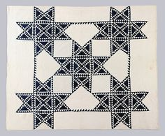 Quilt, Star pattern. Maker: Eliza Smith Barber. date: ca.1850-1900