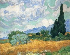Vincent van Gogh | Wheatfield with Cypress Tree, 1889 | National Gallery, London