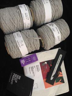 Wool and the Gang T-shirt Yarn #Crochet Basket Kit