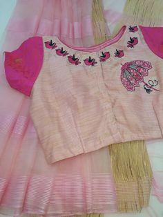 Embroidery Fashion Ribbon 54 Ideas For 2019 Cotton Saree Blouse Designs, Saree Blouse Patterns, Stylish Blouse Design, Saree Trends, Blouse Models, Embroidery Fashion, Work Blouse, Embroidery Works, Hand Embroidery