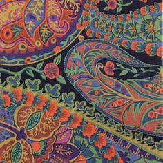 WESTMINSTER KAFFE FASSETT JUNGLE PAISLEY MOSS Paisley Fabric, Paisley Pattern, Paisley Print, Hancocks Of Paducah, Creative Textiles, Free Spirit Fabrics, Mc Escher, Fair Isle Knitting, Quilt Kits