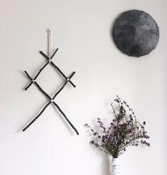 Othala . suspension murale pagan viking rune en par BoudoirDuChaman
