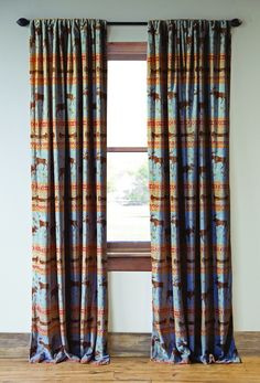 Carstens Moose Tracks Rustic Cabin Curtain Panels, Set of 2 - Rustic - Curtains - by Carstens