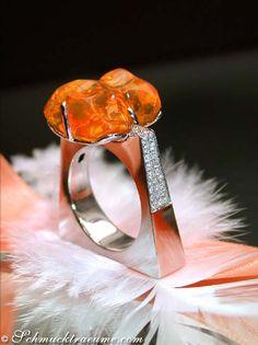 Feueropal Brillanten Ring » Juwelier Schmucktraeume.com