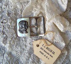 Vintage Gladiator Metal Belt Buckle by cynthiasattic on Etsy, $15.00