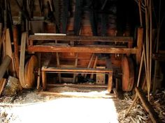 1820-1860 wood treadle lathe. Cool video! by cooper68s