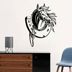 Removable 57X80Horses Head Kids Room Wall Decal Art Bedroom Sticker Home Decor Horse Wall Sticker Vinyl Wall Paper A-129