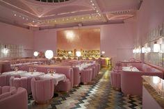 La arquitecta iraní India Mahdavi redecora el restaurante Sketch en Londres: rosa, rosa y más rosa. AD España, © D.R.
