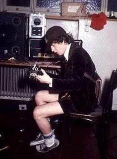 Angus Young - AC/DC -Backstage 1978or79