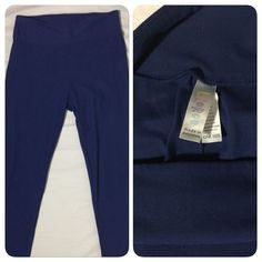 0670917 LuLaRoe Leggings One Size Solid Blue Buttery Soft OS Pants #LuLaRoe