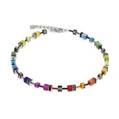 Geo Cube Collier multicolour rainbow Swarovski® Crystal
