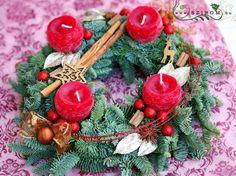 adventi koszorú (40cm) Advent, Christmas Ornaments, Holiday Decor, Home Decor, Room Decor, Christmas Baubles, Home Interior Design, Decoration Home, Christmas Decor