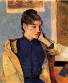 paul gauguin - 保罗·高更作品玛德莲·伯纳德,画家艾米丽·伯纳德的姐妹 - Portrait of Madelaine Bernard, sister of the artist Emile Bernard
