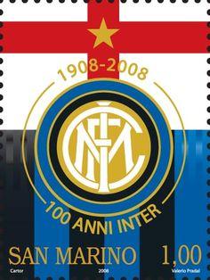 Francobollo 100 anni di Inter San Marino  www.bauscia.it