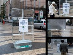 Clever WWF Guerilla Marketing with a melting Ice Citylight