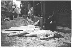 German women lie dead in the street after being raped and murdered by Russian soldiers. They had been caught by Russian soldiers while out searching for food!