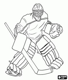 Ice-hockey goaltender...coloring page