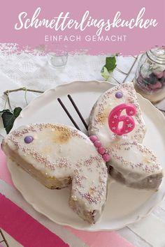 Schmetterling Kuchen Rezept - schneller Geburtstagskuchen: Der Schmetterlingskuchen ist perfekt für einen Mädchen Geburtstag. Das Zitronenkuchen Rezept kann auch gegen einen Schokokuchen ausgetauscht werden. Wer einen Geburtstagskuchen einfach backen möchte, findet hier das perfekte Kindergeburtstag Kuchen Rezept.