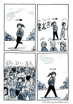 Introversion Comic (Comic that Perfectly Capture the Life of a Introvert) Introvert Quotes, Introvert Problems, Intj, Feeling Drained, Saint Esprit, Rainer Maria Rilke, My Bubbles, Infj Personality, Cute Comics