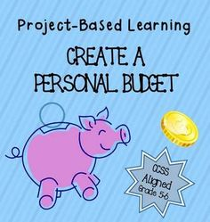 MATH: Project based learning: Create a personal budget - percent & decimal operations for grade Teaching Money, Student Teaching, Teaching Kids, Problem Based Learning, Project Based Learning, Math Resources, Math Activities, Fifth Grade Math, Fourth Grade