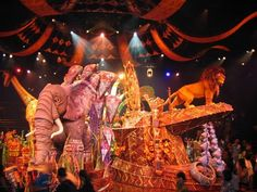 Festival of the Lion King, an original interpretation of the Disney animated film The Lion King, is a live stage musical performed in Disney's Animal Kingdom. The show uses songs, dance, puppetry and visual effects to portray a tribal celebration in an African savanna setting filled with lions, elephants, giraffes, birds, zebras and gazelles.