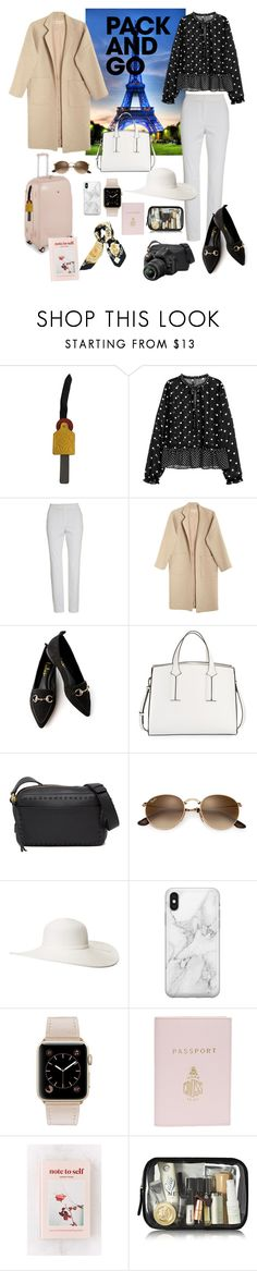 """""""Pack & go"""" by salypimienta on Polyvore featuring Loewe, St. John, Mara Hoffman, LULUS, French Connection, Cole Haan, Nikon, Scala, Recover and Mark Cross"""