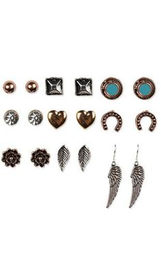 Multiple Earrings Set With Orted Studs