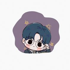 Cartoon Fan, Cute Cartoon, Character Art, Character Design, Aesthetic Painting, Valentines For Boys, Journal Stickers, Jaehyun Nct, Aesthetic Stickers