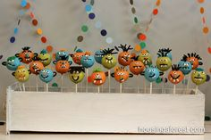 Monster Cake Pops - some notes in link about how to create these