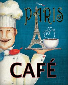 Paris Cafe, A Wild Apple Art Print,