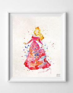 Sleeping Beauty Print Aurora Type 3 Disney by InkistPrints on Etsy