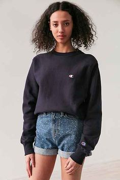Shop Champion Reverse Weave Crew-Neck Sweatshirt at Urban Outfitters today. Crop Shirt, Sweater Shirt, Tee Shirts, Champion Clothing, Girl Outfits, Cute Outfits, Summer Outfits, Champion Sweatshirt, Fashion Line
