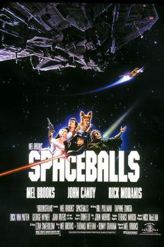 Directed by Mel Brooks. With Mel Brooks, John Candy, Rick Moranis, Bill Pullman. Planet Spaceballs& President Skroob sends Lord Dark Helmet to steal planet Druidia& abundant supply of air to replenish their own, and only Lone Starr can stop them. 90s Movies, Comedy Movies, Great Movies, Iconic 80s Movies, Movies Of The 80's, Childhood Movies, Film Music Books, Music Tv, Love Movie