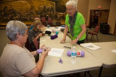 Crochet Camp at the Chisholm Trail Heritage Center in Duncan, OK July 2014