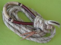 Blind BOB Mills Horsehair Mecate & Fine Braided Kangaroo~Rawhide Hackamore Bosal #BlindBobMills