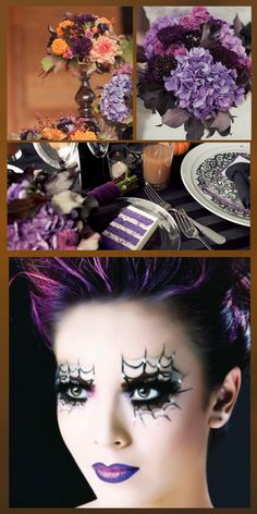 Halloween Wedding Ideas - would look great with my eyes :)