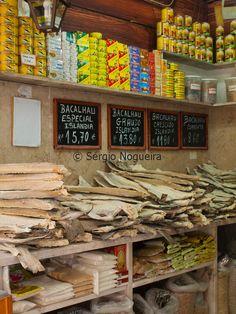 cod fish shop, Lisbon