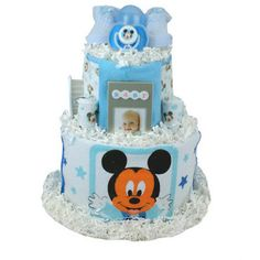 Mickey Mouse Theme Diaper Cake