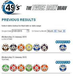 Jan 2015 Irish Lottery Results for Draw and Draw Irish Lottery Results, Daily Drawing, E 10, Jan 17, January 27, Sunday, Domingo
