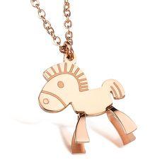 New Design Horse Style Titanium Steel Necklace