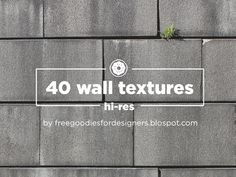Free PSD Goodies and Mockups for Designers: FREEBIE 40 HI-RES WALL TEXTURES