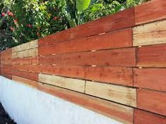 Image result for horizontal fence boards