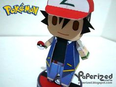 PAPERMAU: Pokemon - Ash Ketchum Paper Toy - by Paperized