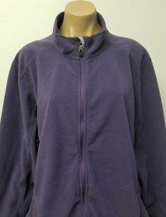 L.L BEAN Purple Polartec 3X Regular Women's Full Zip Front Fleece Jacket