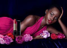 Lupita Nyong'o on the 'joyful' set of her latest Lancôme campaigns