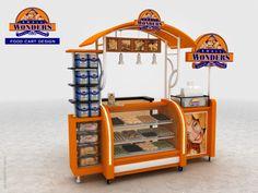 Cart-Kiosk Design-3d by rommel laurente at Coroflot.com Pop Design, Stand Design, Booth Design, Kiosk Design, Cafe Design, Candy Booth, Mobile Kiosk, Food Cart Design, Office Wall Design