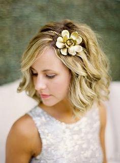 gold succulent head band