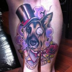 gentleman dog tattoo; I believe Chester would make an awesome tattoo