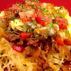 Spaghetti Squash Taco Salad #BeyondDiet #Recipes