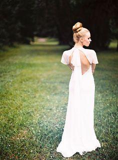 Beautiful back #wedding #dress #bride